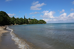Private beach looking west